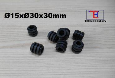 Element elastic intermediar pentru bolturi Ø15x30x30mm