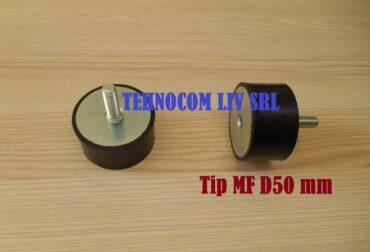 Tampon cauciuc vibrant Ø50 mm cu un singur surub