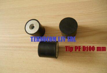 Tampon anti-vibratii din cauciuc Ø100 mm