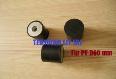 Tampon cilindric din cauciuc amortizor Ø60 mm