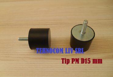 Tampon amortizare D15 mm cu surub M4