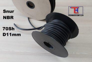 Profil din cauciuc NBR70 Diametru 11mm