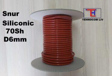 Snur cauciuc siliconic 70Shore Diam6mm