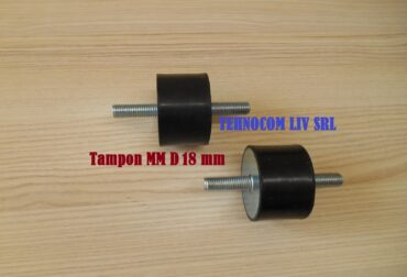 Suport anti-vibratii cauciuc Ø18 mm cu 2 suruburi d18 mm