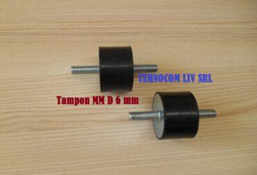Tampon cauciuc amortizor cilindric Diametru 6mm