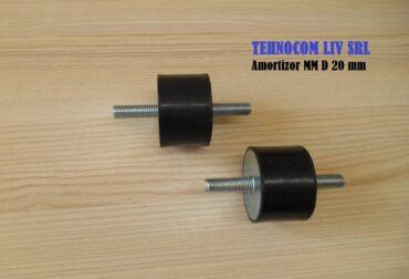 Amortizor vibratii cauciuc D 20 mm