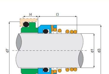 Simering pompa apa SIHI D12mm