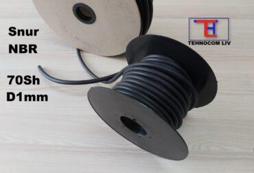 Snur de etansare cauciuc NBR70 Diam.1mm