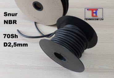 Snur rotund NBR70 la metru Diametru2.5mm
