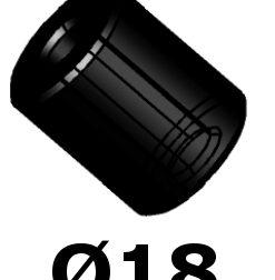 Bucse cuplaje elastice Ø18 18x4x25mm