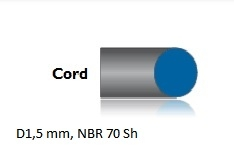 Snur de etansare cauciuc NBR70Sh Diametru1.5mm