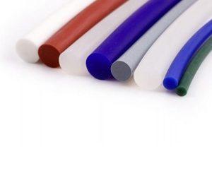 Garnitura cauciuc siliconic alb translucid D2mm