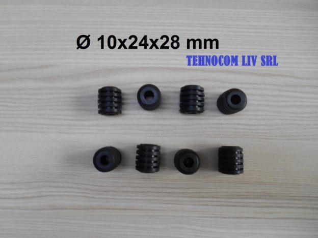 Garnitura cauciuc cuplaj cu bolturi D10x24x28 mm
