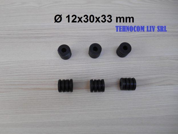 Bucsa elastica cauciuc NBR D12x30x33mm
