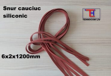 Snur banda cauciuc siliconic 6x2x1200mm
