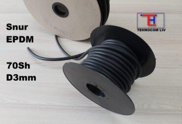 Snur elastomeric din etilen propilenic D3mm