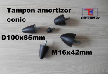 Amortizor parabolic atenuat vibratii D100xH85mm M16X42mm
