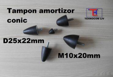 Amortizor parabolic din cauciuc D25XH22mm M10X20
