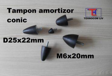 Tampon cauciuc conic D25x22 M6X20 mm