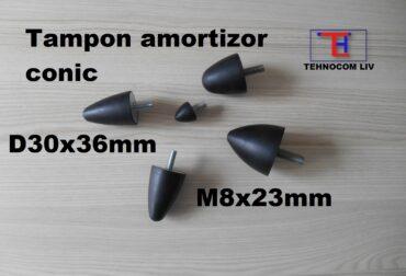 Tampon cauciuc conic D30X46mm surub M8X23mm