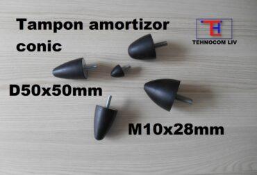 Tampoane de cauciuc conice D50xH50mm.M10X28mm