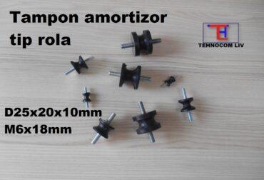 Tampon cauciuc amortizor rola 25x20x10 M6X18mm