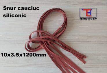 Snururi cauciuc de etanşare pătrate 10x3.5x1200mm
